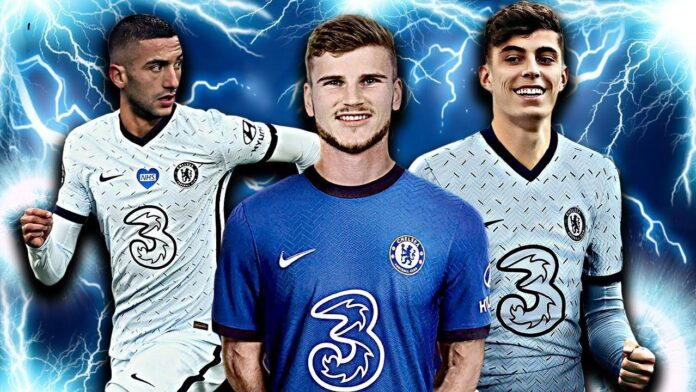 Chelsea's front 3 against Atletico Madrid